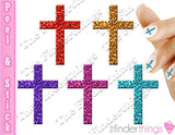 Leopard Print Cross Crucifix Nail Art Decal Sticker Set - The FinderThings