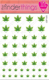 Fall and Autumn Green Leaf Nail Art Decal Sticker Set - The FinderThings