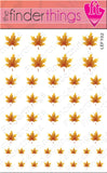 Fall and Autumn Yellow Leaf Nail Art Decal Sticker Set