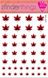Fall and Autumn Red Leaf Nail Art Decal Sticker Set - The FinderThings