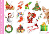 Christmas Santa Tree Variety Nail Art Decal Sticker Set - The FinderThings