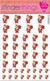 Christmas Santa Claus Nail Art Decal Sticker Set - The FinderThings
