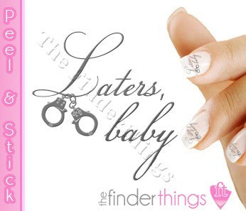 Fifty Shades of Grey Laters Baby Nail Art Decal Sticker Set - The FinderThings