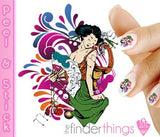 Japanese Geisha and Kimono Nail Art Decal Sticker Set - The FinderThings