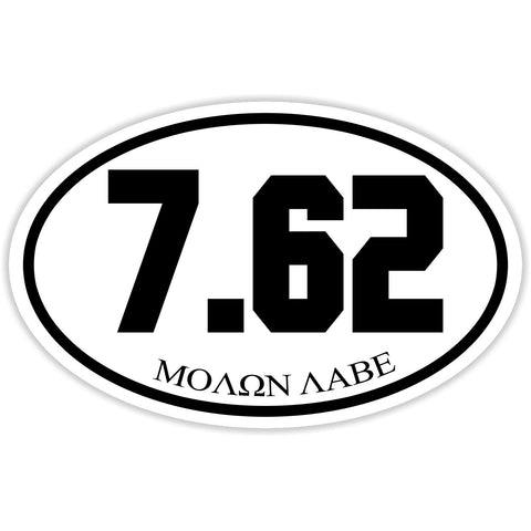 7.62 Caliber Shooter Sticker Decal - Firearms Sports Bumper Sticker - The FinderThings