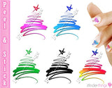 Christmas Tree Swirl Variety Nail Art Decal Sticker Set