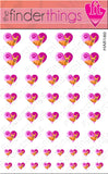 Chihuahua Puppy Love Heart Nail Art Decal Sticker Set - The FinderThings