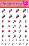 Puerto Rico Flag Nail Art Decal Sticker Set - The FinderThings