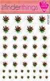 Pot Leaf Weed Nail Art Decal Sticker Set - The FinderThings