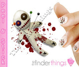 Voodoo Doll Zombie Halloween Nail Art Decal Sticker Set