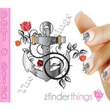 Anchor Rose and Flower Nail Art Decal Sticker Set