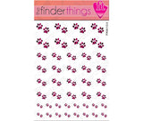 Pink Tiger Stripe Paw Print Nail Art Decal Sticker Set