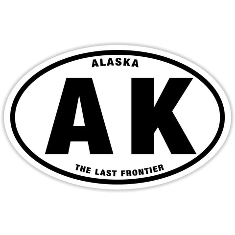 State of Alaska Sticker Decal - The Last Frontier Bumper Sticker