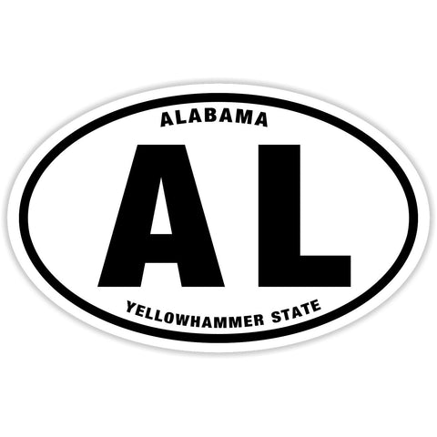 State of Alabama Sticker Decal - Yellowhammer State Bumper Sticker - The FinderThings
