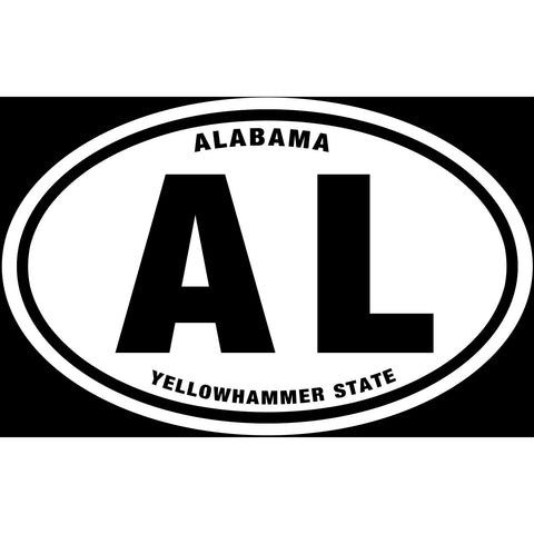 State of Alabama Sticker Decal - Yellowhammer State Bumper Sticker