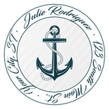 Anchor Personalized Return Address Labels Ship Ocean Sea Sailor - The FinderThings