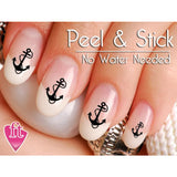 Anchor and Ocean Nail Art Decal Sticker Set