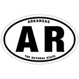 State of Arkansas Sticker Decal - The Natural State Bumper Sticker