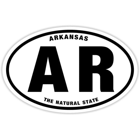 State of Arkansas Sticker Decal - The Natural State Bumper Sticker - The FinderThings
