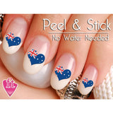 Australia Flag Heart Nail Art Decal Sticker Set - The FinderThings