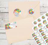 Autism Awareness Personalized Return Address Labels with Puzzle Pieces - The FinderThings