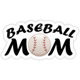 Baseball Mom Sticker with Baseball - The FinderThings