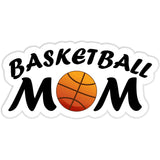 Basketball Mom Sticker with Basketball - The FinderThings