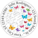 Butterflies Colorful Spring Mix Personalized Return Address Labels - The FinderThings