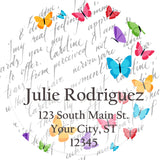 Butterflies Colorful Spring Mix Personalized Return Address Labels
