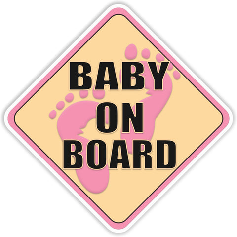 Baby on Board Pink Bumper Sticker - The FinderThings
