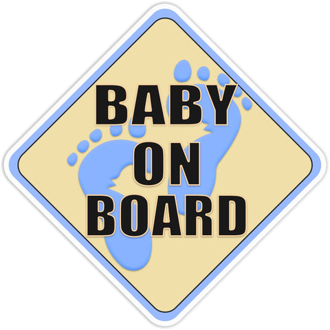 Baby on Board Blue Bumper Sticker - The FinderThings