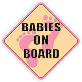 Babies on Board Pink Bumper Sticker - The FinderThings