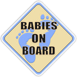 Babies on Board Blue Bumper Sticker - The FinderThings