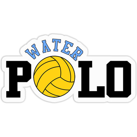 Water Polo Sticker with Polo Ball - The FinderThings
