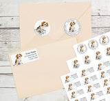 Beagle Personalized Return Address Labels Cute Beagle Puppy Dog