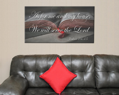 As for Me and My House We will serve the Lord Prayer Canvas Print - FREE SHIPPING -