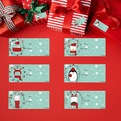 Christmas Gift Tag Stickers Free Set When You Buy 2 Sets - The FinderThings