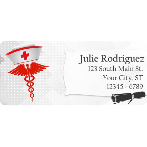 Class of 2019 Graduation Medicine Nurse Personalized Return Address Labels - The FinderThings