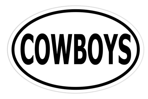 Cowboys Sticker Decal - Cowboys Sports Team Football Bumper Sticker - The FinderThings