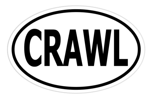 Rock Crawl Sticker Decal - Rock Crawler Rock Crawling Bumper Sticker