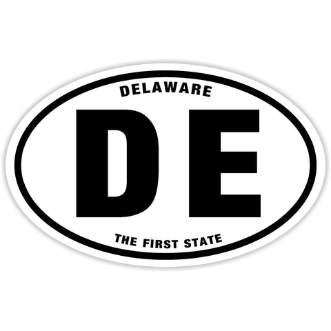 State of Delaware Sticker Decal - The First State Bumper Sticker - The FinderThings