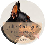 Doberman Pinscher Dog Cute Puppy Personalized Return Address Labels - The FinderThings