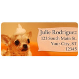 Chihuahua Dog Puppy Cute Foam Doggy Personalized Return Address Labels