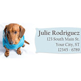 Dachshund Dog Blue Sweater Doggy Personalized Return Address Labels - The FinderThings