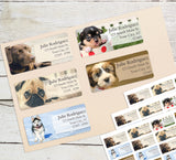 Dog Personalized Return Address Labels Variety Pack - Set of 5 Different Designs - The FinderThings
