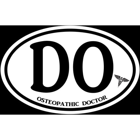 Osteopathic Doctor DO Sticker Decal - Medical Care D.O. Bumper Sticker