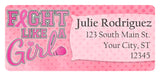 Breast Cancer Awareness Return Address Labels Variety Pack - Set of 5 Different Designs - The FinderThings