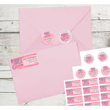 Breast Cancer Awareness Fight Like a Girl Personalized Return Address Labels - The FinderThings