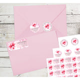 Cherry Blossom Flower in Pink Petals Tree Personalized Return Address Labels - The FinderThings