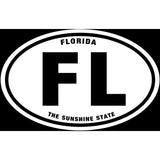 State of Florida Sticker Decal - The Sunshine State Bumper Sticker